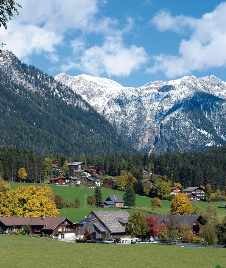 alpen stereich arkivfoton