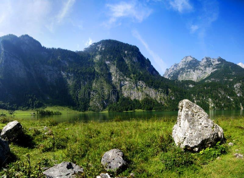 Alpen und See stockfoto