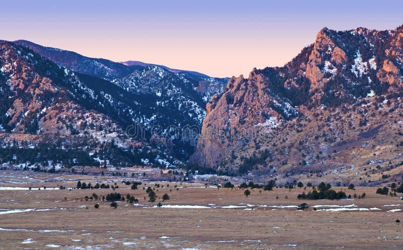 alpenglowcolorado foothills rockies royaltyfria foton