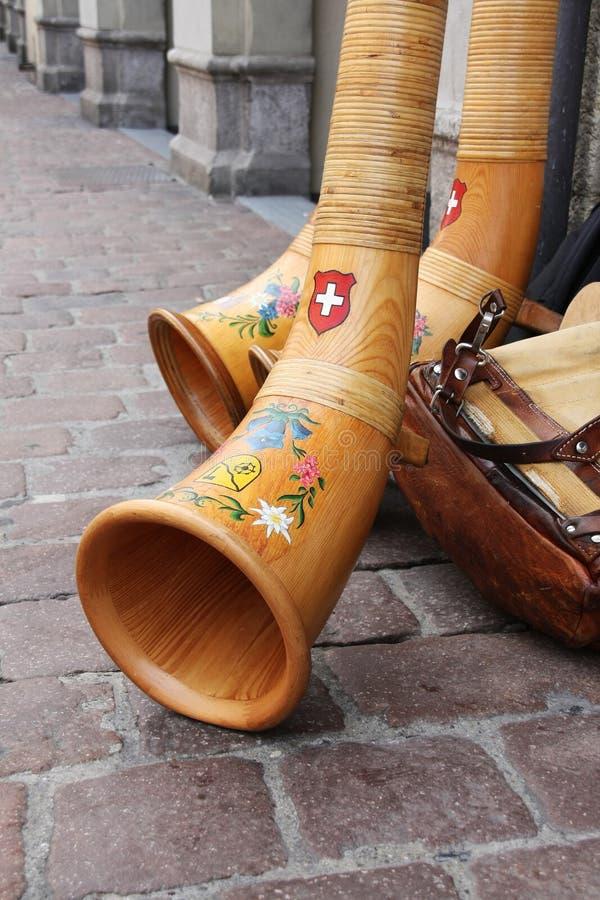 Alpenhorn royalty-vrije stock fotografie