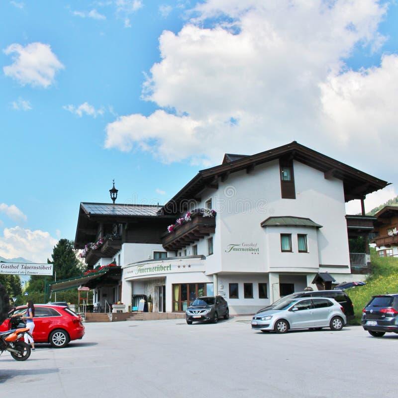 Alpenhotel Tauernstà ¼ berl, Zell am Widzii fotografia stock