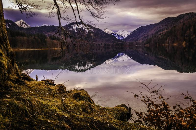 Alpenmeer royalty-vrije stock fotografie