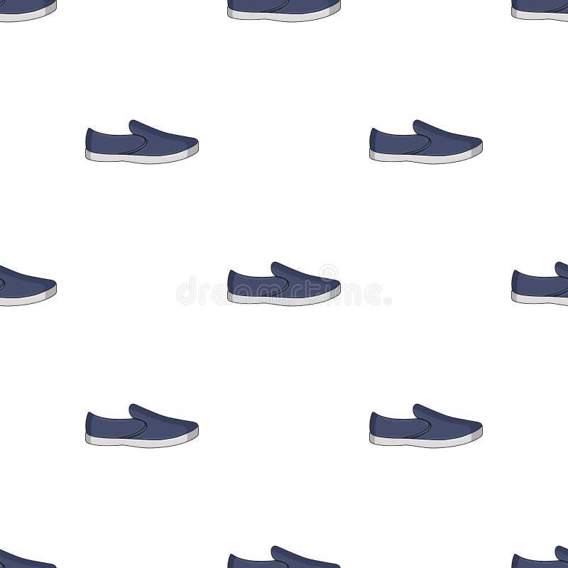 Alpergatas azuis do verão dos homens Sapatas confortáveis do verão nos pés desencapados para o desgaste diário As sapatas diferen ilustração royalty free