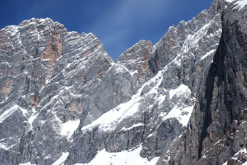 alpes滑雪冬天 免版税库存图片