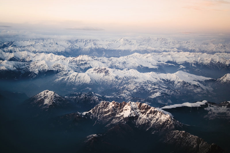 The Alpes royalty free stock photos