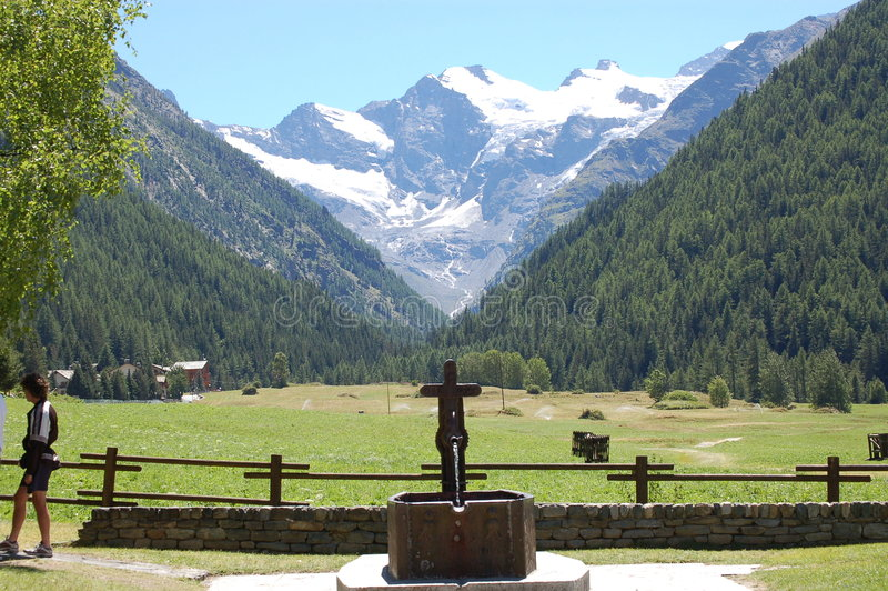 alpes aosta cogne ιταλικά στοκ φωτογραφία με δικαίωμα ελεύθερης χρήσης