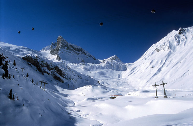 Alpes austríacos imagens de stock