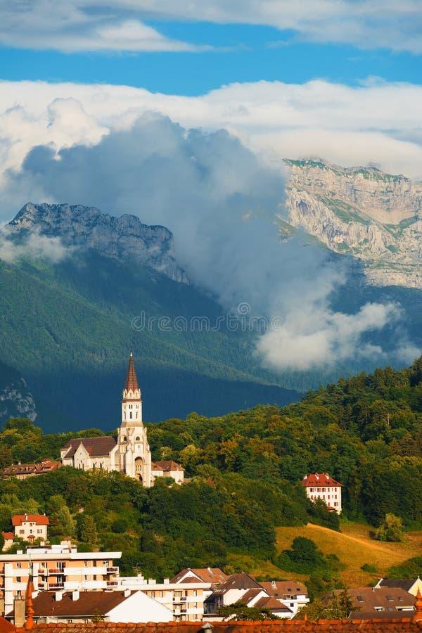 Alpes da igreja do Visitation de Annecy Basicila V fotografia de stock royalty free