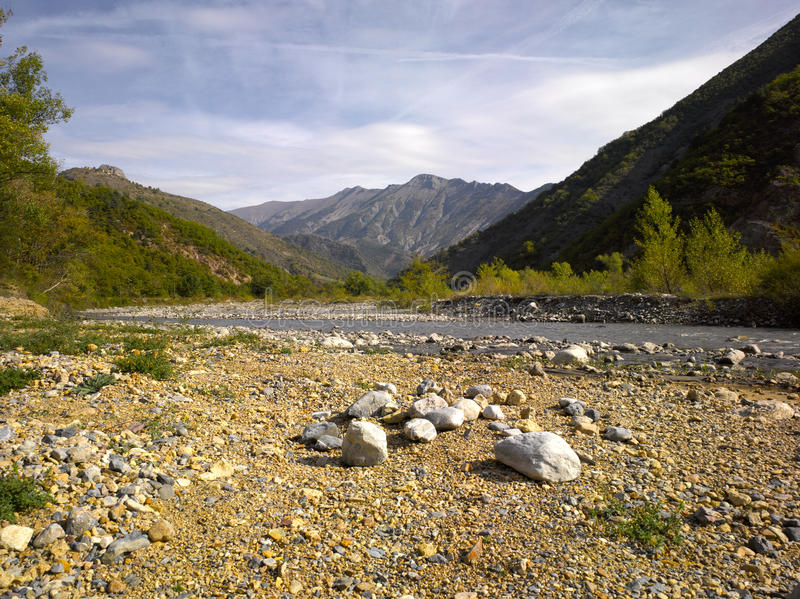 ALpes De Haute Provence; La Vallee Du Bes Stock Photos