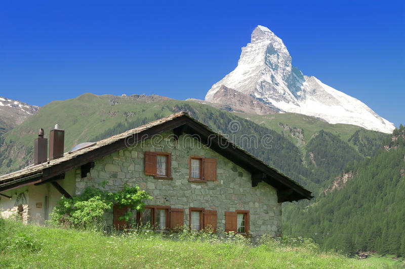 Alpes de Matterhorn Suisse de montagne photos stock