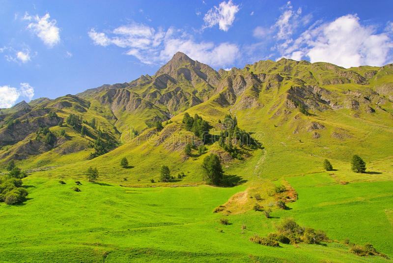Alpes de Samnaun fotos de stock royalty free