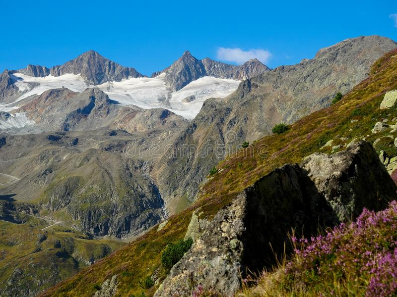 Alpes de Stubai au Tyrol photos libres de droits