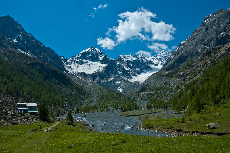 Alpes de Ventina, Valmalenco - Italie photo libre de droits