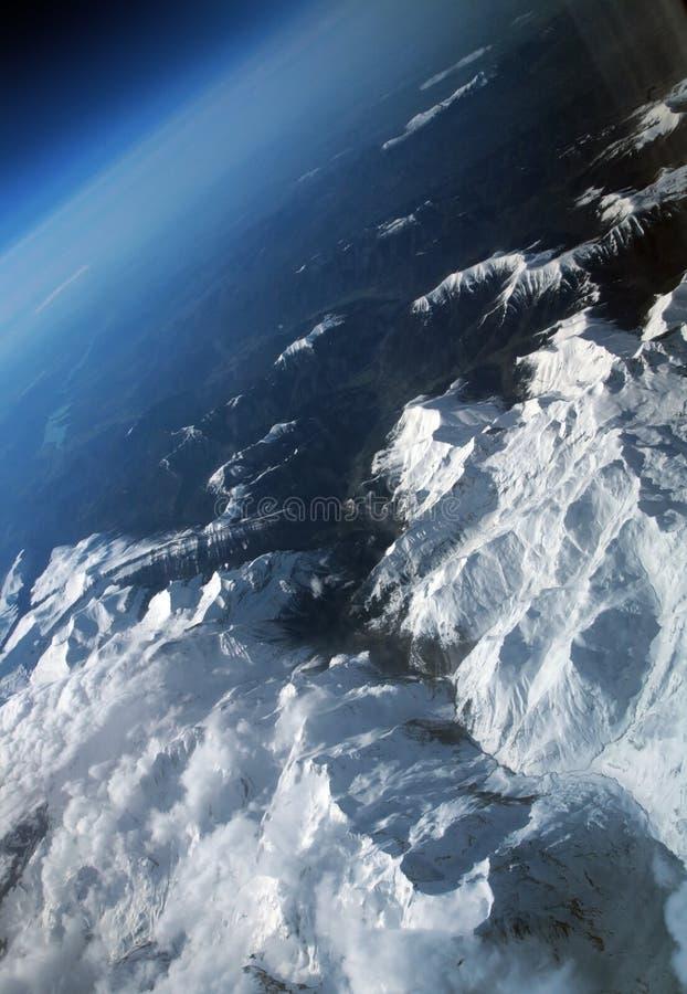 Alpes do avião foto de stock royalty free