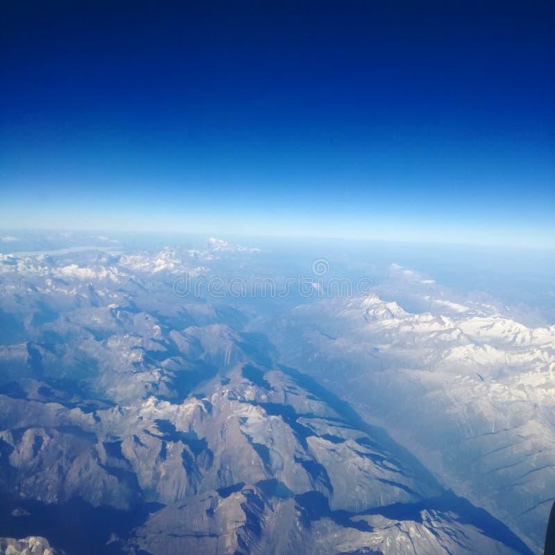 Alpes do céu foto de stock
