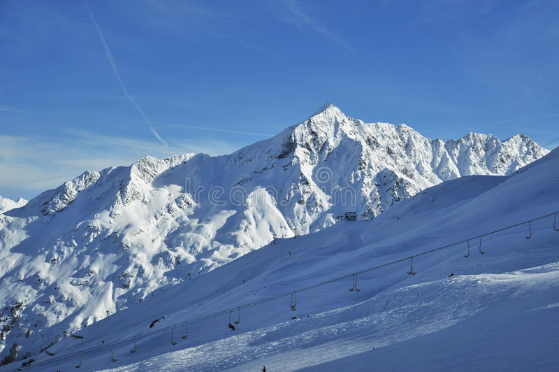 Alpes do inverno fotografia de stock