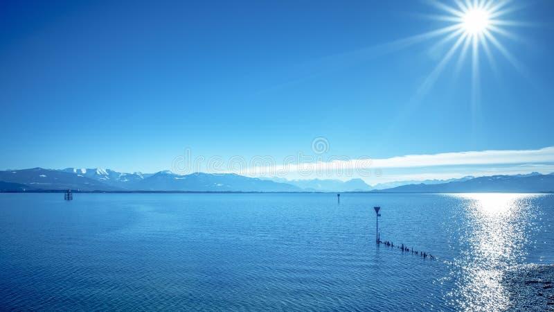 Alpes du Lac de Constance image libre de droits