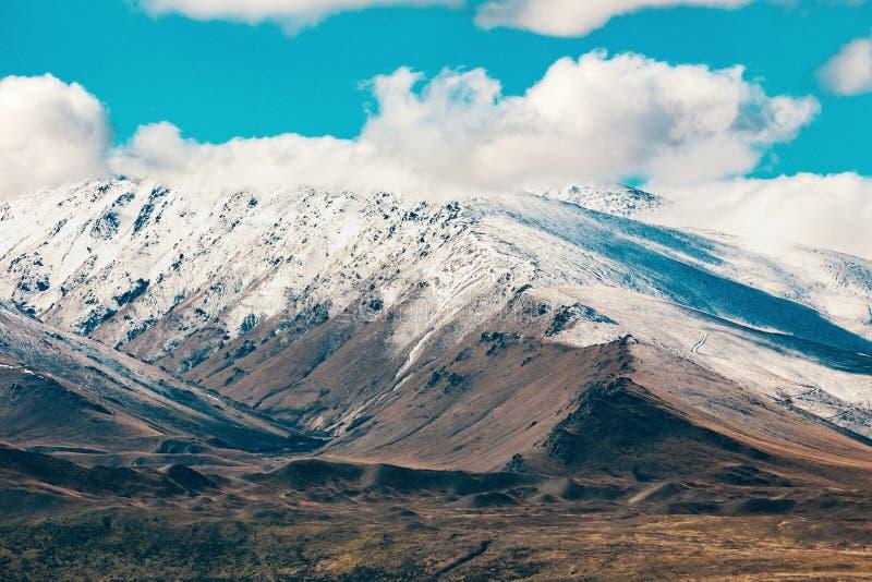 Alpes du sud et lac Tekapo image libre de droits