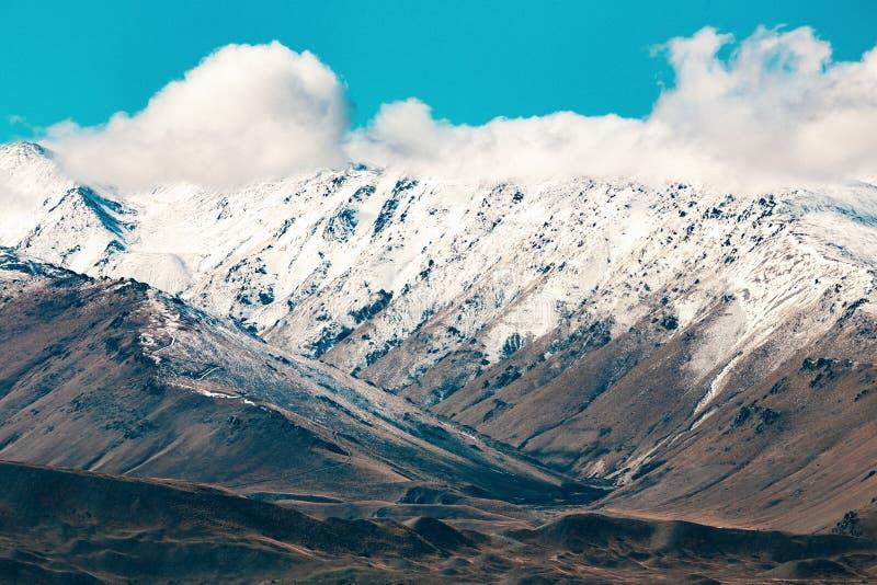 Alpes du sud et lac Tekapo photo libre de droits