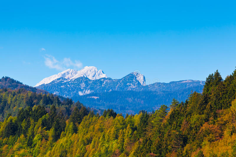 Alpes eslovenos fotografia de stock royalty free