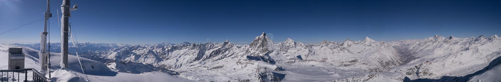 Alpes suisses Matterhorn de paysage photo stock