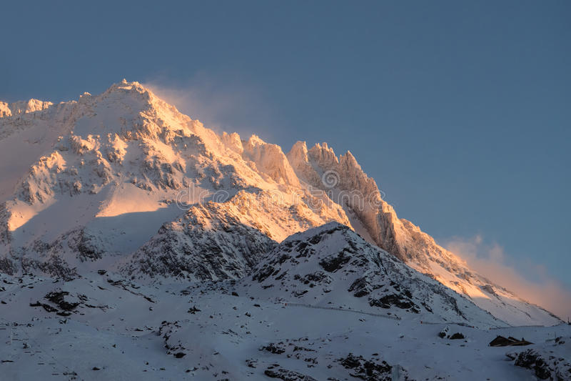 Alpes, Val-Thorens foto de archivo libre de regalías