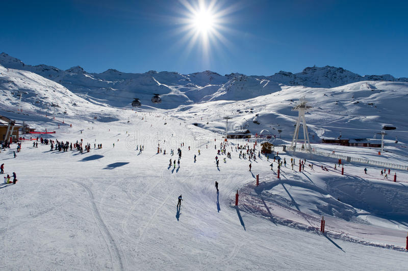 Alpes, Val-Thorens fotografia de stock royalty free