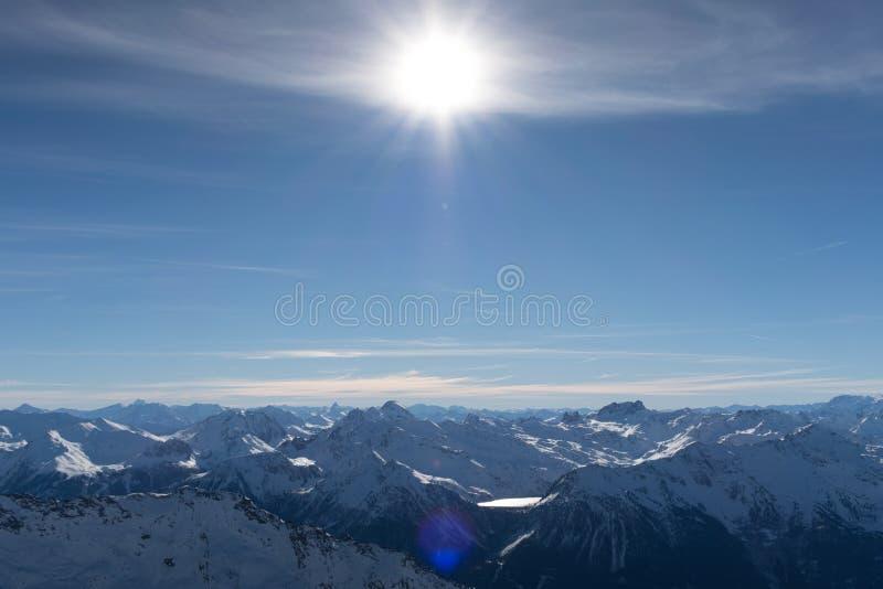 Alpes, Val-Thorens imagenes de archivo