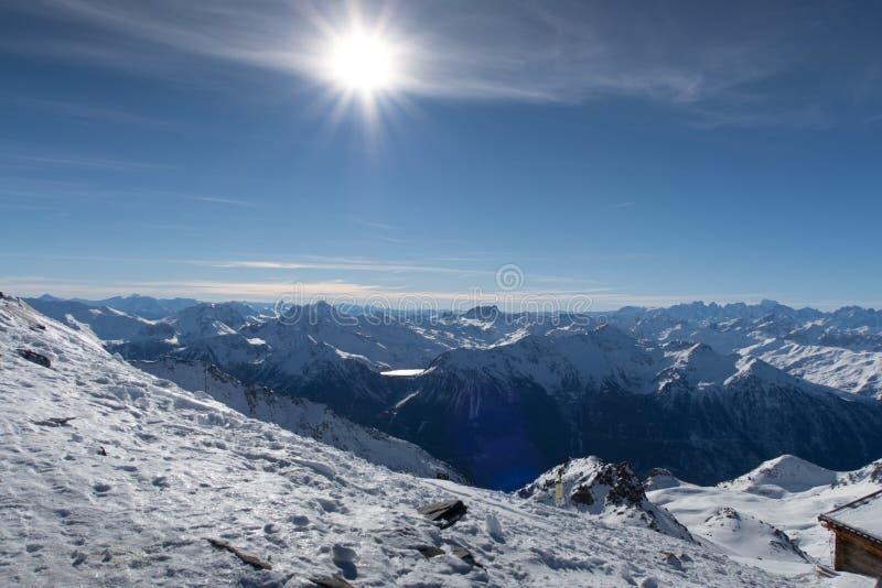 Alpes, Val-Thorens imagen de archivo libre de regalías
