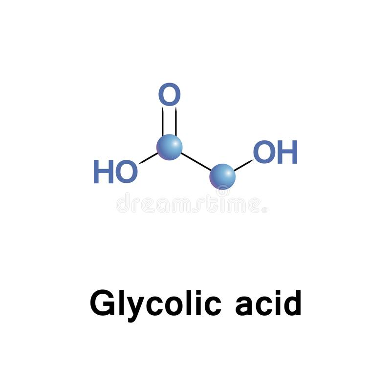 Alpha acide hydroxycitrique glycolique illustration de vecteur