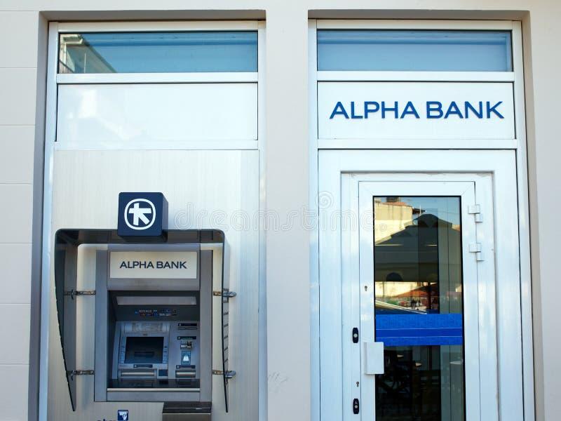 Alpha Bank, Grécia fotografia de stock