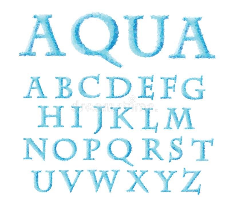 Alpha bleu de triangle illustration de vecteur