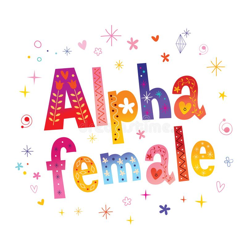 Alpha female. Unique lettering t shirt design vector illustration