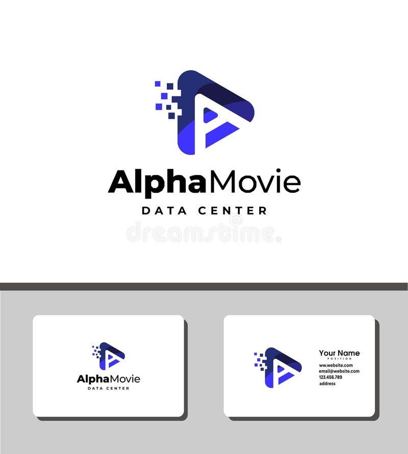 Alpha- filmembleem vector illustratie