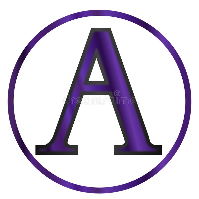 Alpha Greek Letter illustration stock