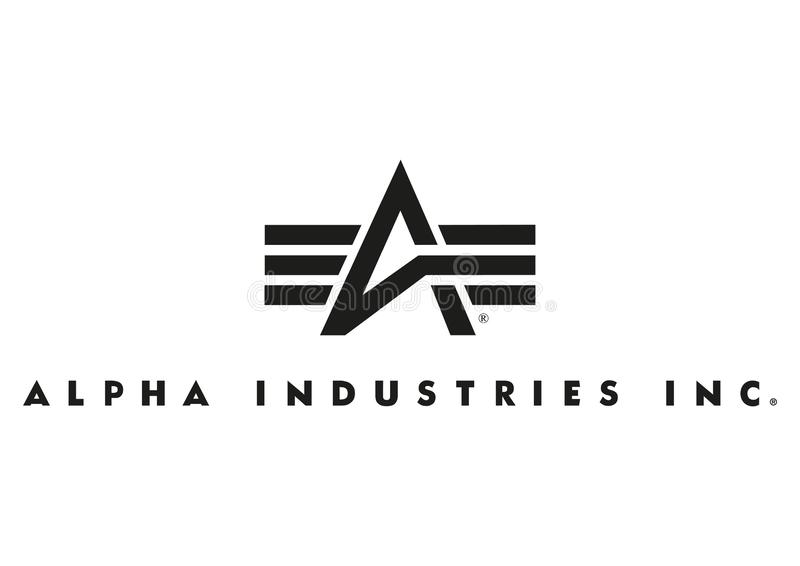 Alpha Industries Inc logo illustration de vecteur