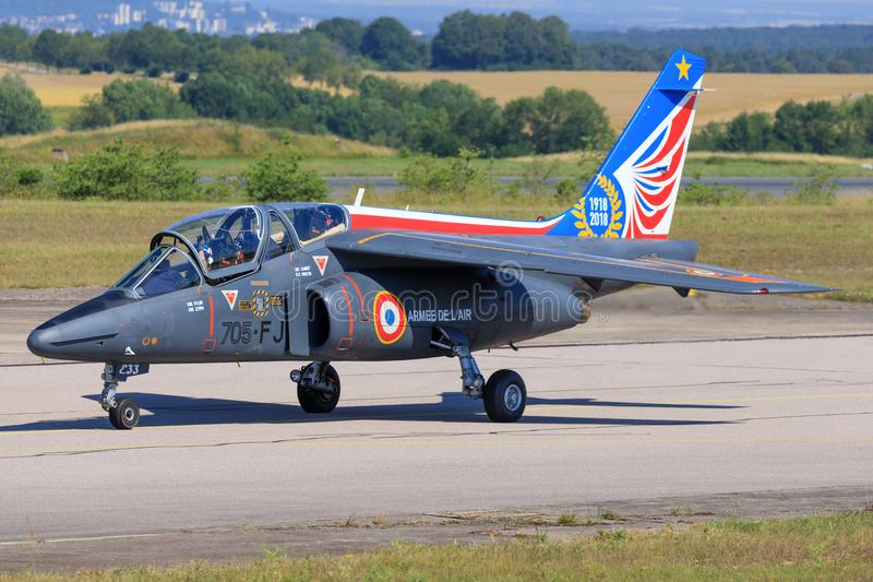 Alpha Jet Patrouille de France stockfotos