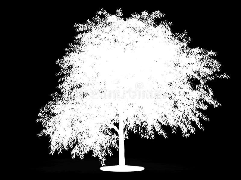 Alpha- kanaal voor kersenboom vector illustratie