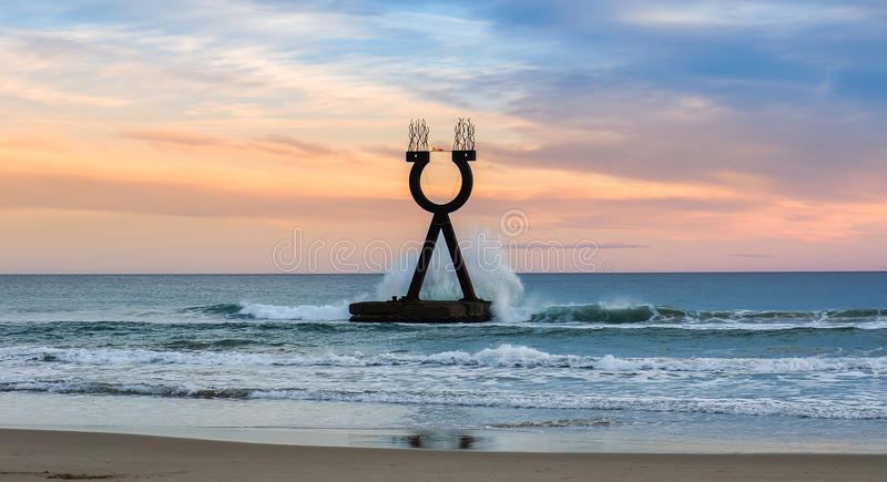 Alpha and Omega Landscape Spain stock image