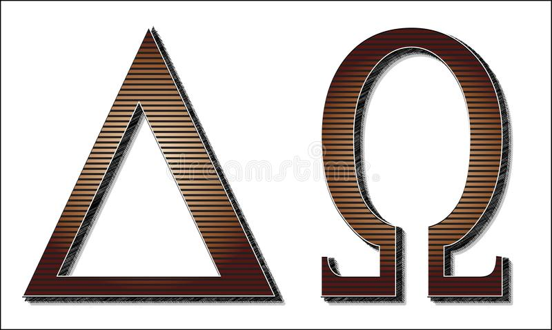 Alpha Omega Letters illustration de vecteur