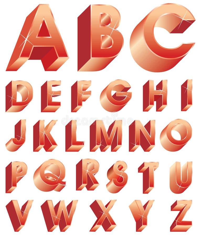 Download Alpha red stock vector. Illustration of symbol, decorative - 15215415