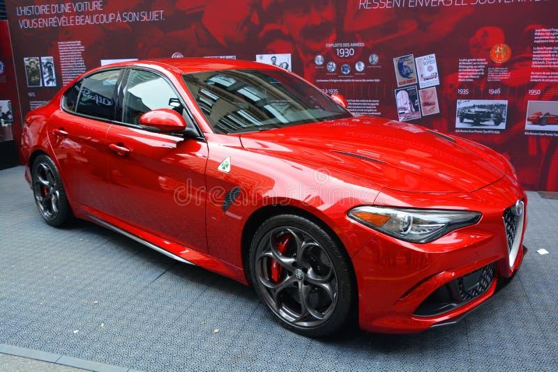 Alpha- Romeo Automobiles stock afbeelding