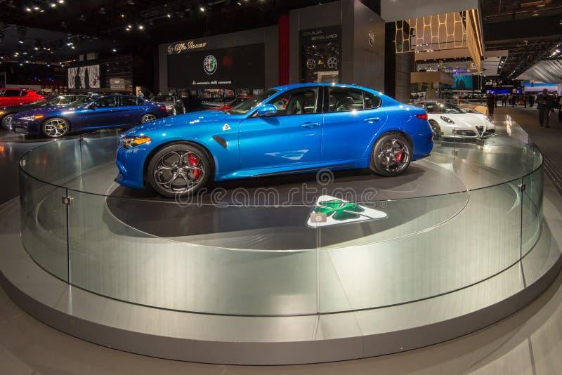 Alpha Romeo Giulia 2017 imagem de stock royalty free