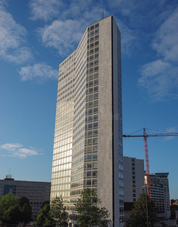 Alpha Tower i Birmingham arkivfoto