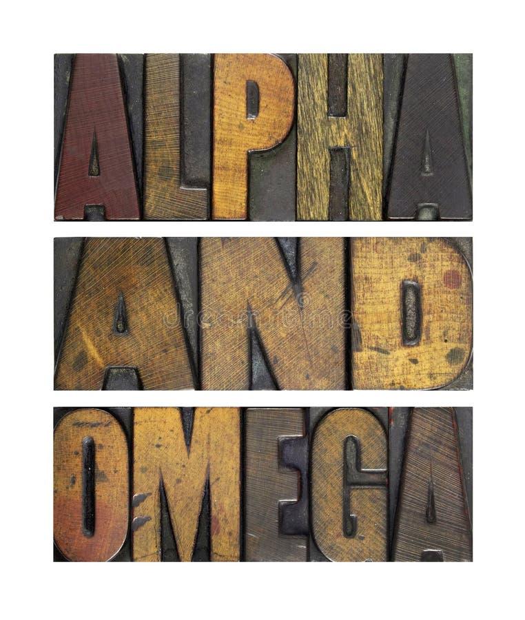 Alpha und Omega stockfotos