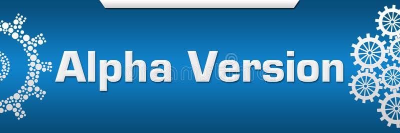 Alpha Version Blue Both Side Gears vector illustration