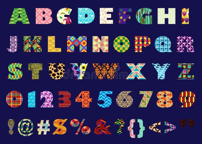Alphabétique illustration de vecteur