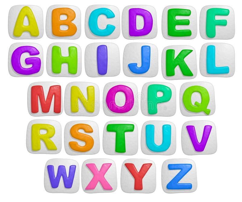 Alphabet illustration stock