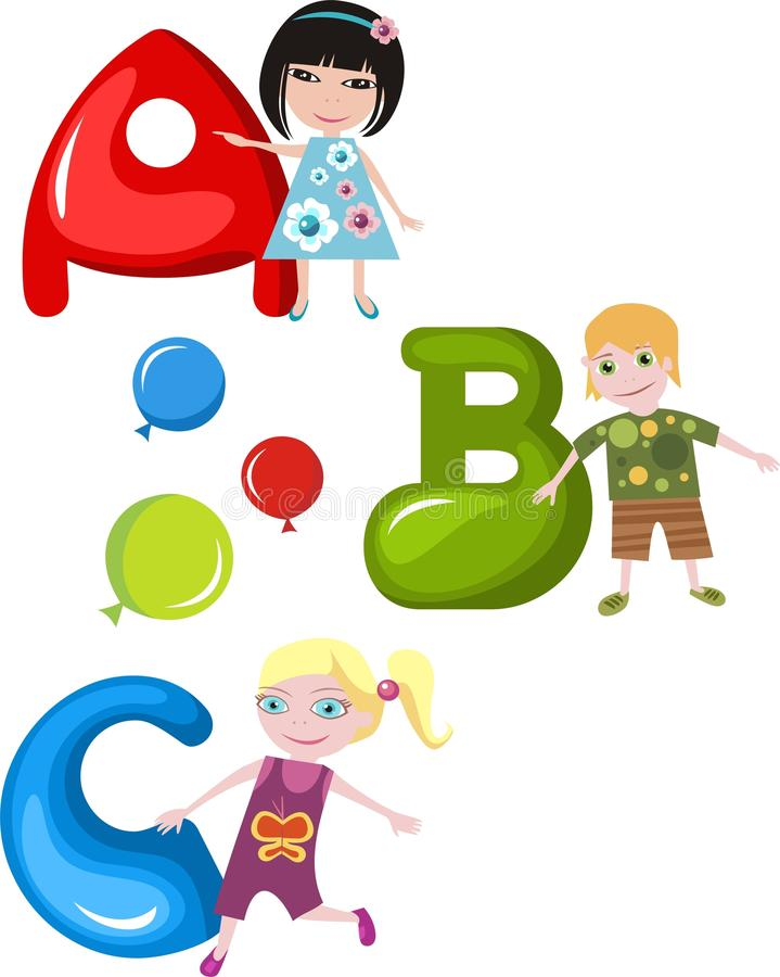 Alphabet royalty free illustration
