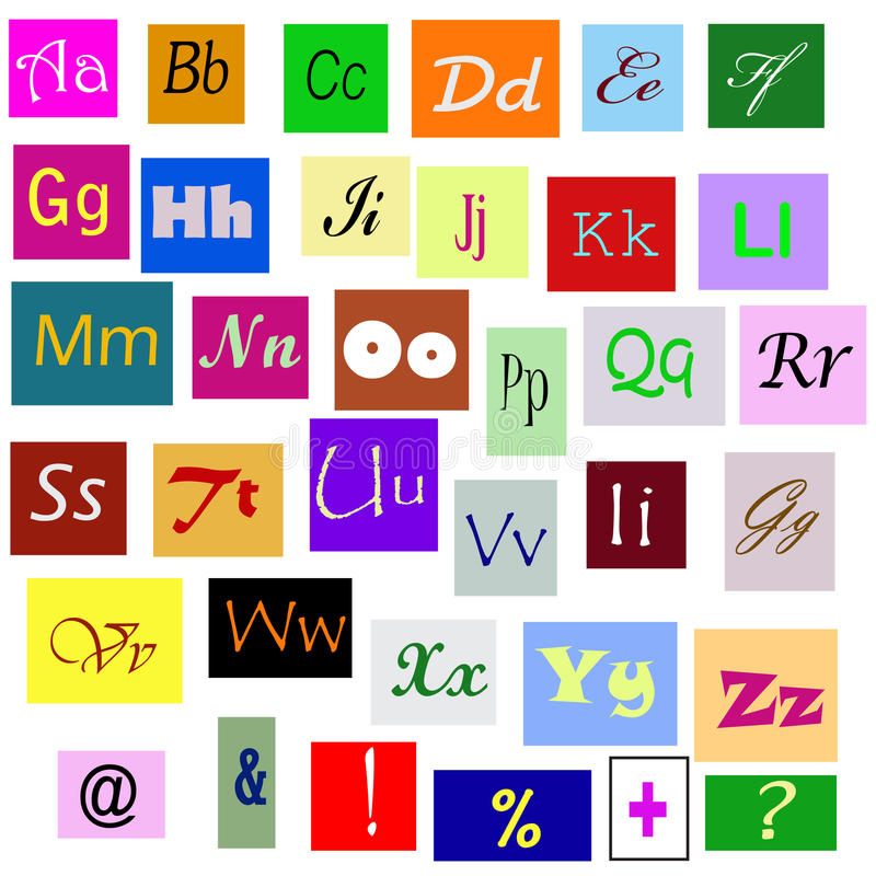 Download Alphabet stock vector. Illustration of information, knowledge - 20607242